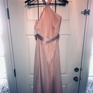 Beautiful blush colored dress!  GORGEOUS!